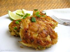 The Baking Barrister: California Crab Cakes ... Crab cakes without so much of the filler. No mayo.