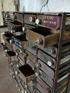 Repurposed turpentine can cabinet