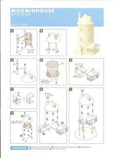moomin house instructions