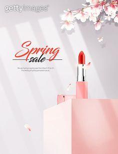 봄, 화장품, 세일, 꽃 이미지 (jv11111524) - 게티이미지뱅크 Spring Sale, Lipstick, Flowers, Beauty, Lipsticks, Royal Icing Flowers, Beauty Illustration, Flower, Florals