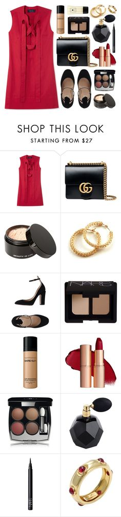 """Garavani"" by sophiehackett ❤ liked on Polyvore featuring Derek Lam, Gucci, Beauty Is Life, YooLa, Valentino, NARS Cosmetics, Bare Escentuals, Chanel, Tiffany & Co. and Jo Malone"