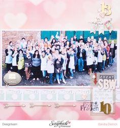 Memories of SBW Event 2013 I scrapbooking layout I mojosanti I Sandra Dietrich I #papercraft #scrapbook #layout