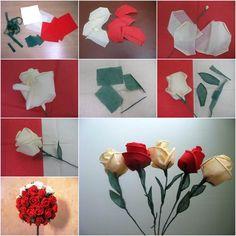 How to DIY Beautiful Crepe Paper Roses