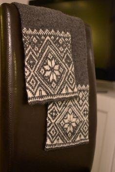 Ravelry: Norwegian Snowflake Scarf pattern free pattern by Todd Gockenl