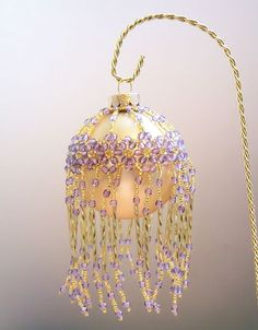 Free Beaded Ornament Cover Patterns | exquisite hand made ornaments
