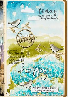 Layers of ink - Hydrangea Art Journal Page by Anna-Karin
