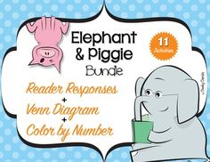 """*** Special gift for my followers ***I'm still working on this project to make it better.So please, leave your comment and keep an eye for updates.Thanks!!!This material will be FREE for a limited time!!! Enjoy :)Elephant & Piggie - BUNDLEThese highly engaging Mo Willems - author of """"an Elephant & Piggie books"""" themed activities are sure to be a hit with your young learners."""