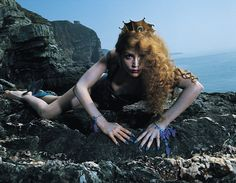 Jerry Hall as the siren on the ROXY MUSIC album cover