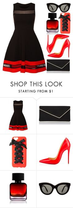 """""""Cross The Red Line"""" by egordon2 ❤ liked on Polyvore featuring L.K.Bennett, Charlotte Russe, Christian Louboutin, The Collection by Phuong Dang and Victoria Beckham"""