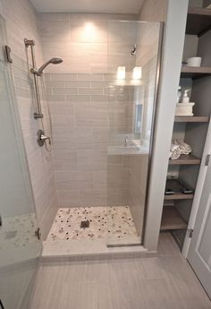 29 Popular Bathroom Shower Tile Design Ideas And Makeover. If you are looking for Bathroom Shower Tile Design Ideas And Makeover, You come to the right place. Here are the Bathroom Shower Tile Design. Diy Bathroom Decor, Bathroom Renos, Bathroom Design Small, Bathroom Interior Design, Bathroom Shelves, Bathroom Organization, Small Master Bathroom Ideas, Bathroom Mirrors, White Bathroom