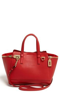 731130df67 Salvatore Ferragamo  Verve - Mini  Leather Satchel available at  Nordstrom  Mini S