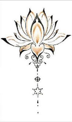 Temporary tattoo lotus tattoo stickers sexy flower waterproof fake tatoo colorful designs back tatto,2set/lot