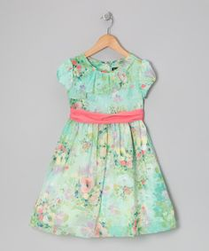 Take a look at this Green Ebonie Dress - Toddler & Girls by Periwinkle on #zulily today!