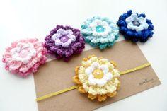 Ombre flower headbandCrochet flower headband or by SweetlaceShop, $7.00