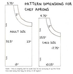 How to make an adjustable chefs apron