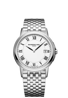 Tradition 5466-ST-00300 Mens Watch - Tradition slim Steel on steel white dial | RAYMOND WEIL Genève Luxury Watches