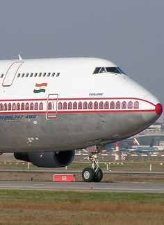 Air India plane. I love what they do with their windows!