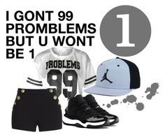 """""""You wont be 1"""" by jaybaeshawty ❤ liked on Polyvore featuring Boutique Moschino and NIKE"""