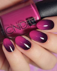 Fuschia Ombre Nails! This is gorgeous.