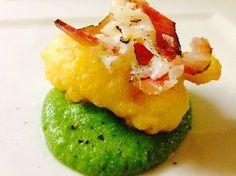 Frittella di baccalà con lardo e crema di broccoli | Food Loft - Il sito web ufficiale di Simone Rugiati