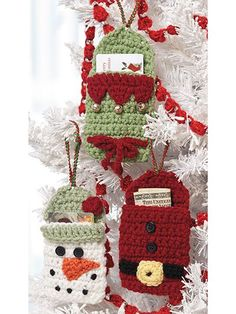Crochet Gift Design Gift Card Holders Crochet Patterns - What's Hot Right Now in Crochet Patterns for the Holidays Crochet Teacher Gifts, Crochet Christmas Decorations, Crochet Christmas Ornaments, Christmas Knitting, Crochet Gifts, Crochet Snowflakes, Easy Crochet, Christmas Projects, Christmas Crafts