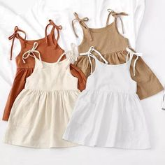 Baby Outfits, Summer Outfits, Baby Girl Fashion, Fashion Kids, Toddler Skirt, Toddler Summer Dresses, Mode Rose, Kids Frocks, Linen Dresses
