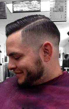 Side part Barber Haircuts, Hot Haircuts, Very Short Haircuts, Great Haircuts, Trendy Haircuts, Men Haircut 2018, Fade Haircut, Prohibition Haircut, Brylcreem Hairstyles