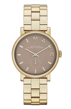 clean marc jacobs watch that will pair easily with anything and everything @nordstrom #nordstrom