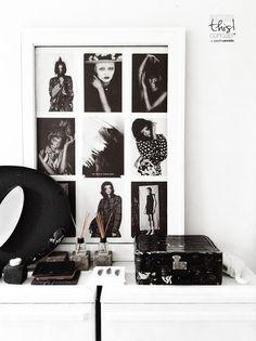 Black, black and white