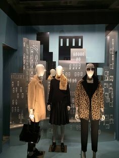"""LA RINASCENTE, Milan, Italy, """"We're just small town girls with big city dreams"""", for MaxMara, pinned by Ton van der Veer"""