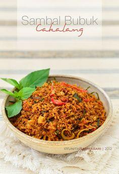 Bonita Food: Sambal Bubuk Cakalang (Spicy and Aromatic Skipjack Tuna Floss) - indonesian dish #sambal
