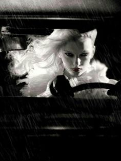"""Sin City inspired - """"Killer Vogue"""" by Steven Meisel for Vogue Italia 2005 IT ~ Noir ~ Steven Meisel, Ansel Adams, Black White Photos, Black And White Photography, White Art, Jean Paul Goude, Vogue Us, Sin City, Portraits"""