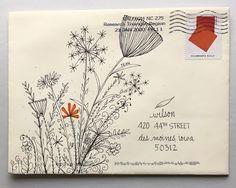 pushing the envelopes: From KathleenH Envelope Lettering, Envelope Art, Envelope Design, Hand Lettering, Lettering Styles, Lettering Tutorial, Mail Art Envelopes, Cute Envelopes, Decorated Envelopes