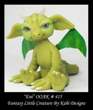 Dragon Fantasy Miniature DollHouse Art Doll Polymer Clay CDHM OOAK IADR Eni
