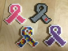 Cancer Ribbon Perler Bead