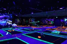 The Cougar Entertainment Center, located on Grand Ave., is home to laser tag, blacklight mini-golf, an arcade and more!