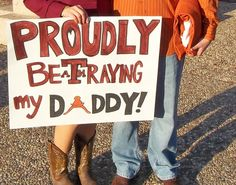 My sign for the last t.u. game... PROUDLY betraying my daddy! <3