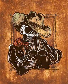 Day of the Dead Artist David Lozeau, Draw!, Wild West Art, Dia de los Muertos Art, Sugar Skull Art, Candy Skull, Skull Art, Skeleton Art
