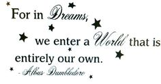 Vinyl wall art  For in Dreams we enter a world You by Teeznstyle, $15.00