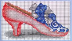 ru / Foto # 8 - scarpe e pantofole, ecc - Irisha-IRA Counted Cross Stitch Patterns, Cross Stitch Charts, Cross Stitch Designs, Cross Stitch Embroidery, Cross Stitch Geometric, Cross Stitch Christmas Ornaments, Xmas Ornaments, Different Stitches, Stitch 2