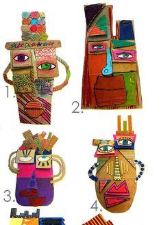 Kids Art Class, Art Lessons For Kids, Artists For Kids, Art For Kids, Cubist Portraits, Abstract Face Art, 4th Grade Art, Picasso Art, Smart Art