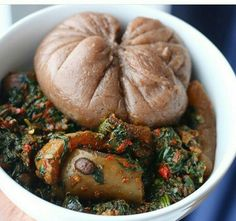 Amala and Efo - Janko Keita - internationally inspired Nigeria Food, Ghana Food, African Spinach Recipe, African Recipes, West African Food, Caribbean Recipes, Mets, Food Inspiration, Love Food