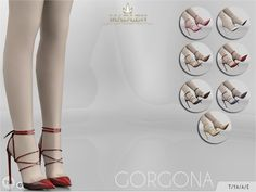The Sims Resource: Madlen Gorgona Shoes by MJ95 • Sims 4 Downloads