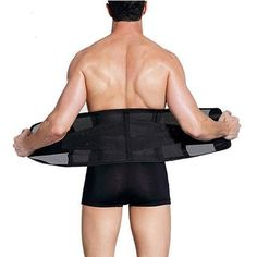c037c66780 Men Slimming Belt Body Shaper. Waist TrainingBurnsFatCorsetColor  BlackYogaSportMens FashionFitness