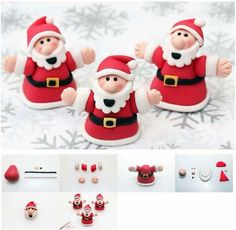 Come and see some of our favourite Christmas cake decorations including a Santa cake topper, Christmas trees and Fondant Christmas Cake, Christmas Cake Decorations, Christmas Treats, Christmas Diy, Christmas Cakes, Christmas Recipes, Christmas Animals, Father Christmas, Christmas Baking