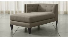 Aidan Left Arm Chaise - Nickel | Crate and Barrel