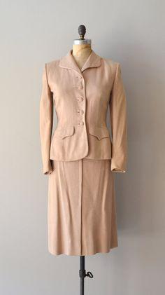 1940s suit | vintage 40s suit | Almondine wool suit