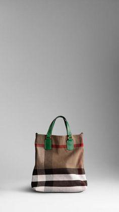 Medium Check Canvas Tote Bag - Lyst Burberry Tote Bag, Burberry Women, Canvas  Tote 13149b36d8