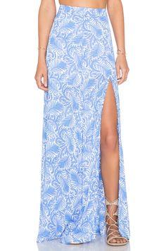Show Me Your Mumu Mick Slit Skirt in Sea Breeze   REVOLVE