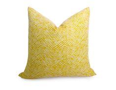 Fishbone Chevron Pillow Cover - Yellow